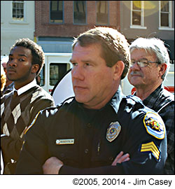 Police Spokesperson Mark Roberts at Huntsvilles 2005 Centennial celebration.